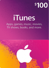Official Apple iTunes Gift 100 USD