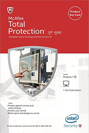 McAfee Total Protection 2017 1 PC 1 YEAR Global