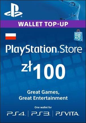 Play Station Network 100 PLN PL
