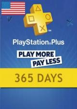Official Playstation Plus 365 Days Card North America