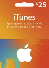 Official Apple iTunes Gift 25 USD